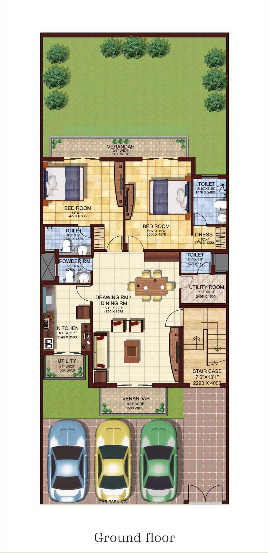 Parkwood glade 2 bedroon 3 bedroom apartments mohali for 4 bhk house plan ground floor